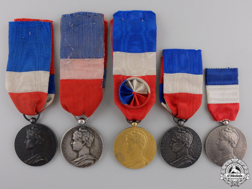 eMedals-Five Early Twentieth Century French Minister of Trade and Industry Honour Medals