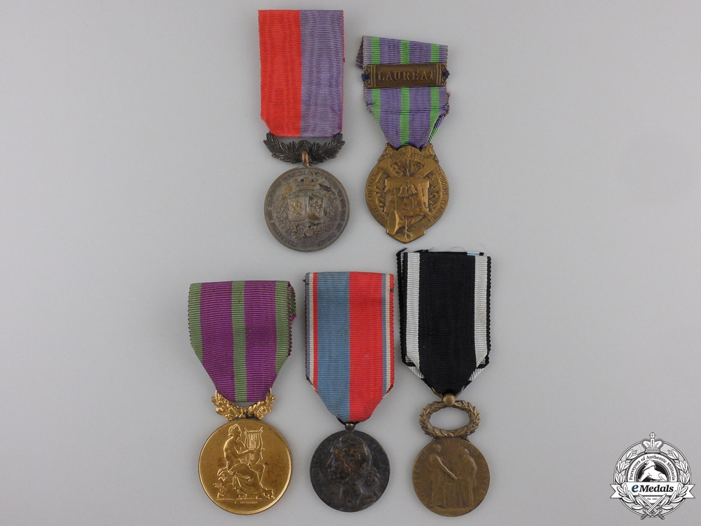 eMedals-Five French Civil Medals and Awards