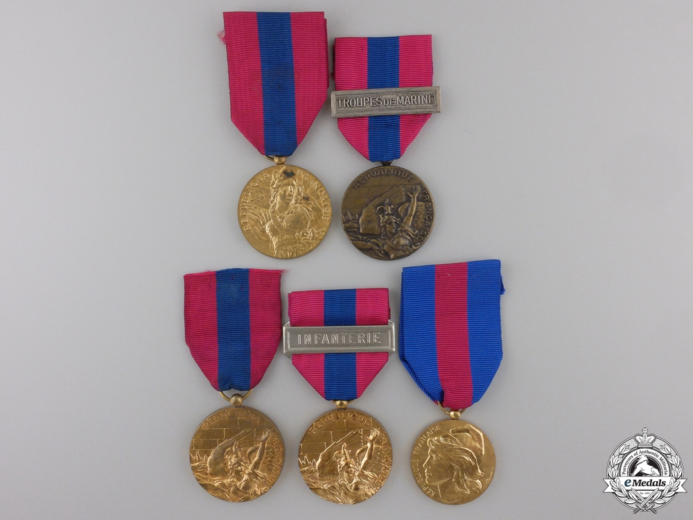 eMedals-Five French Medals and Awards