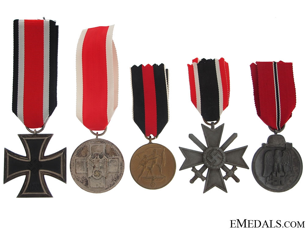 eMedals-Five German WWII Awards