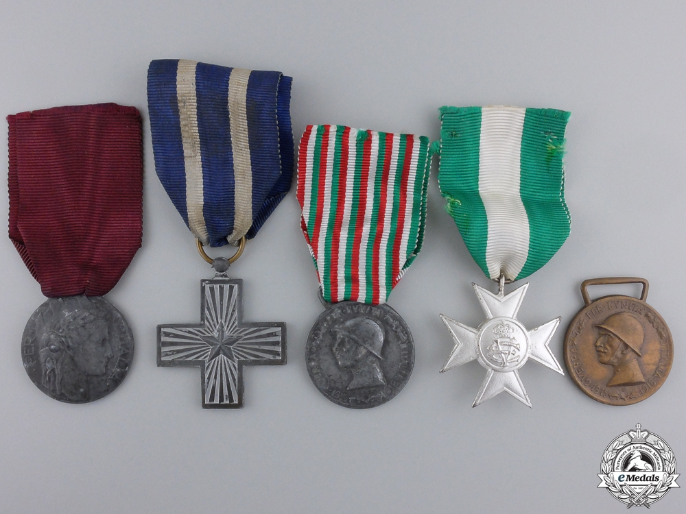 eMedals-Five Italian Medals and Awards