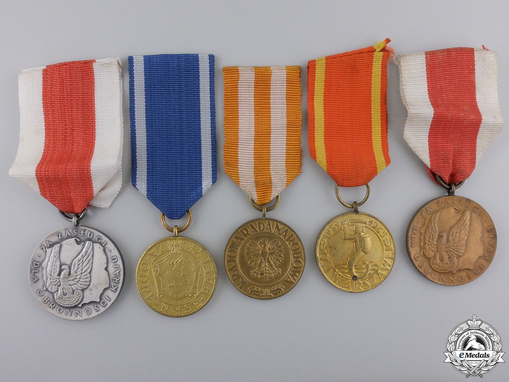 eMedals-Five Polish Medals & Awards