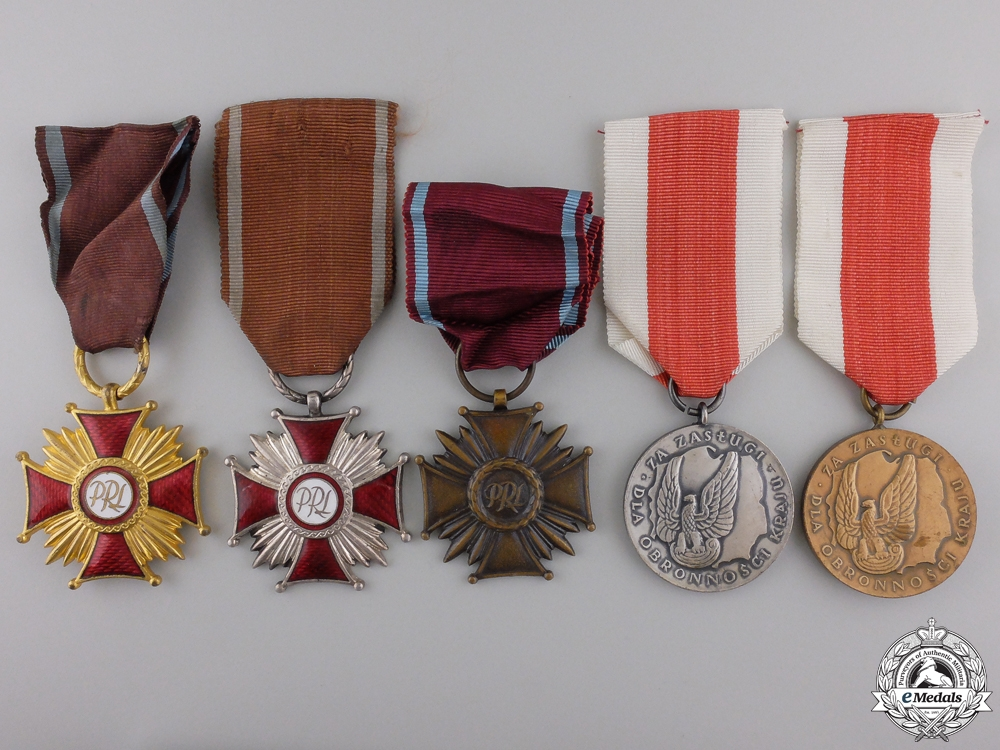 eMedals-Five Polish Orders, Medals, and Awards