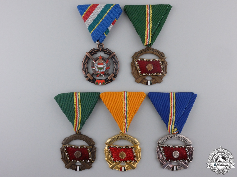 eMedals-Five Republic of Hungarian Medals, Orders & Awards