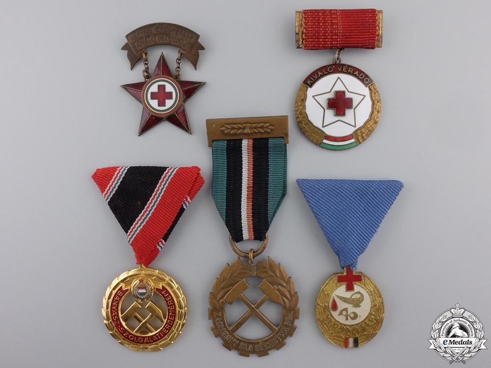 eMedals-Five Republic of Hungarian Medals & Awards