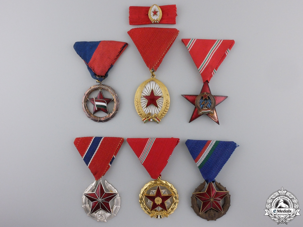eMedals-Five Republic of Hungary Medals, Orders & Awards