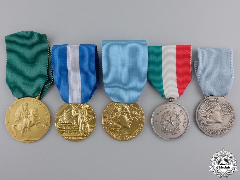 eMedals-Five Republican Era Italian Medals & Awards