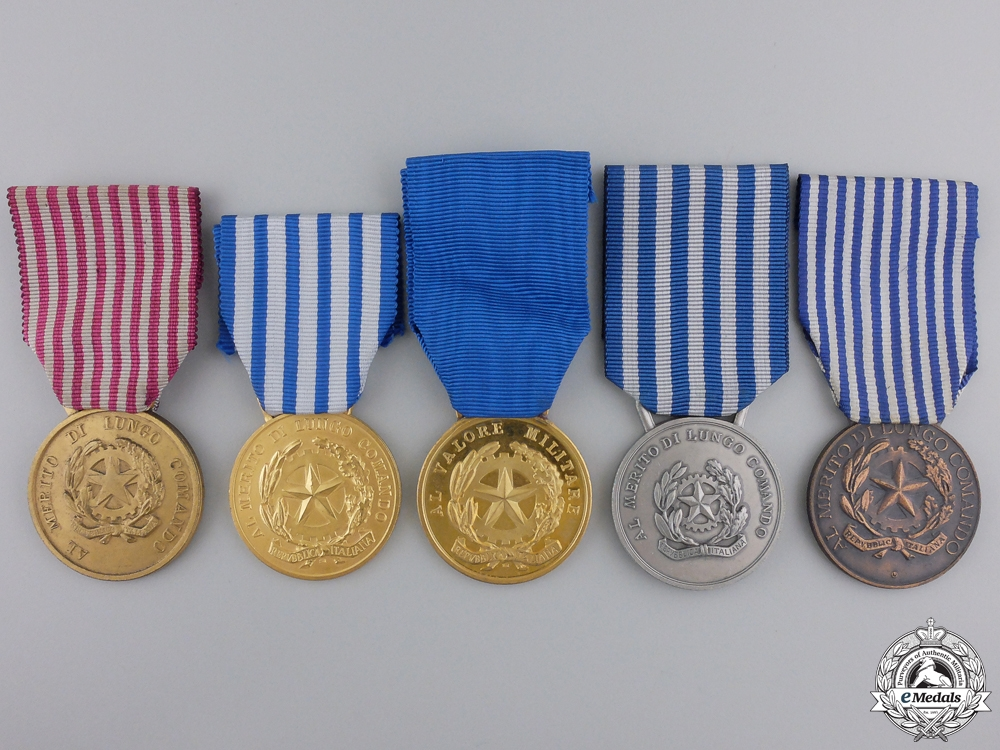 eMedals-Five Republican Era Italian Medals & Awards