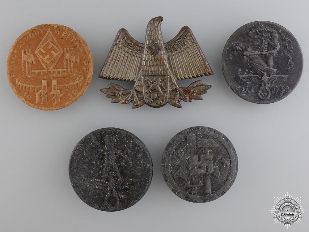 eMedals-Five Second War German Tinnies