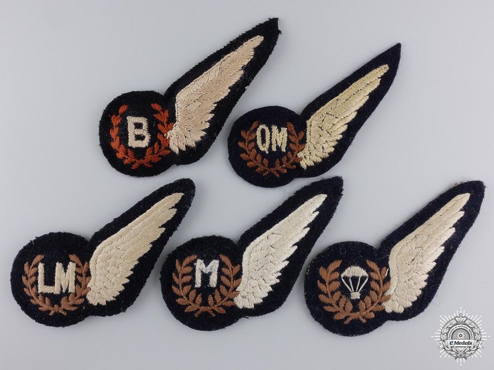 eMedals-Five Second War Royal Air Force (RAF) Half Wings