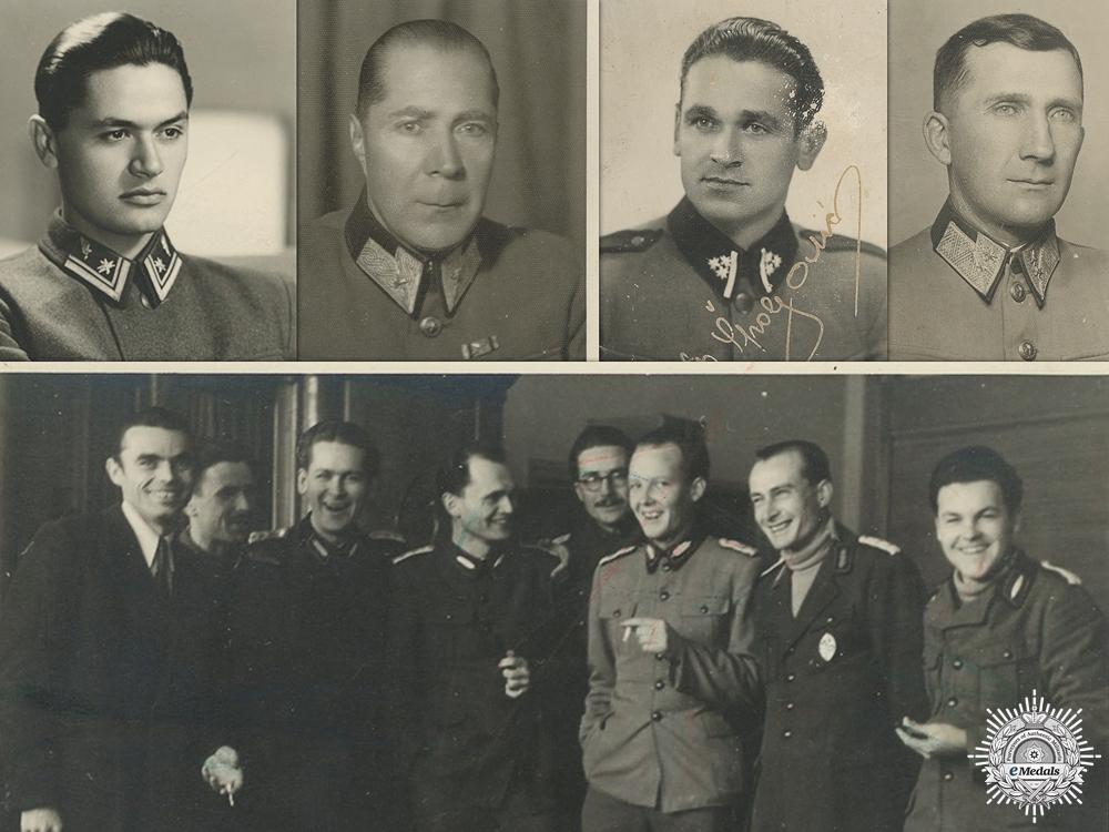 eMedals-Five Second War Croatian Domobrani Photographs