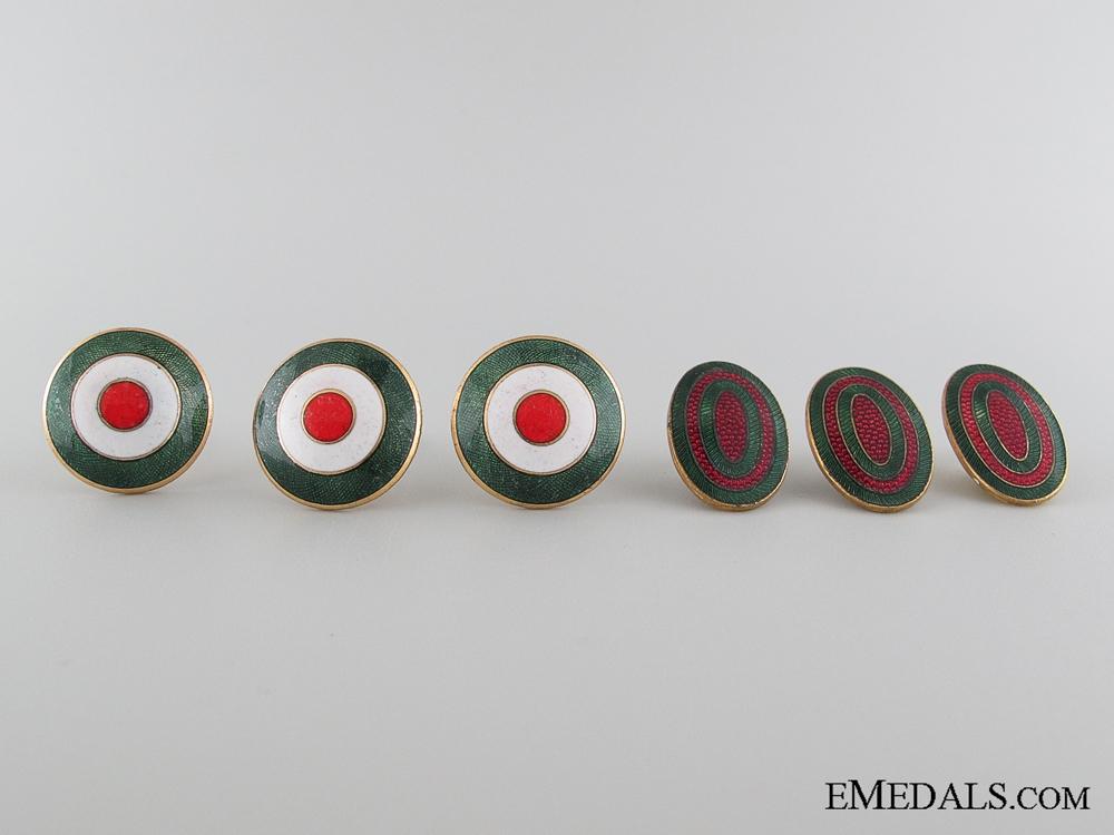 eMedals-Five WWII Bulgarian Cap Badges