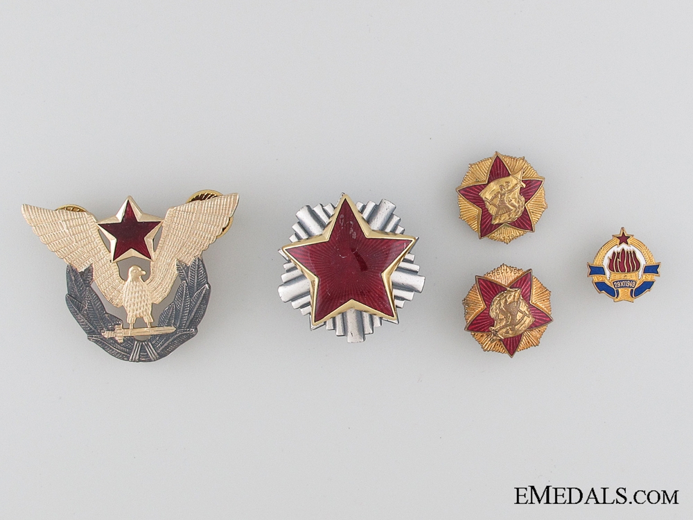 eMedals-Five Yugoslavian Badges