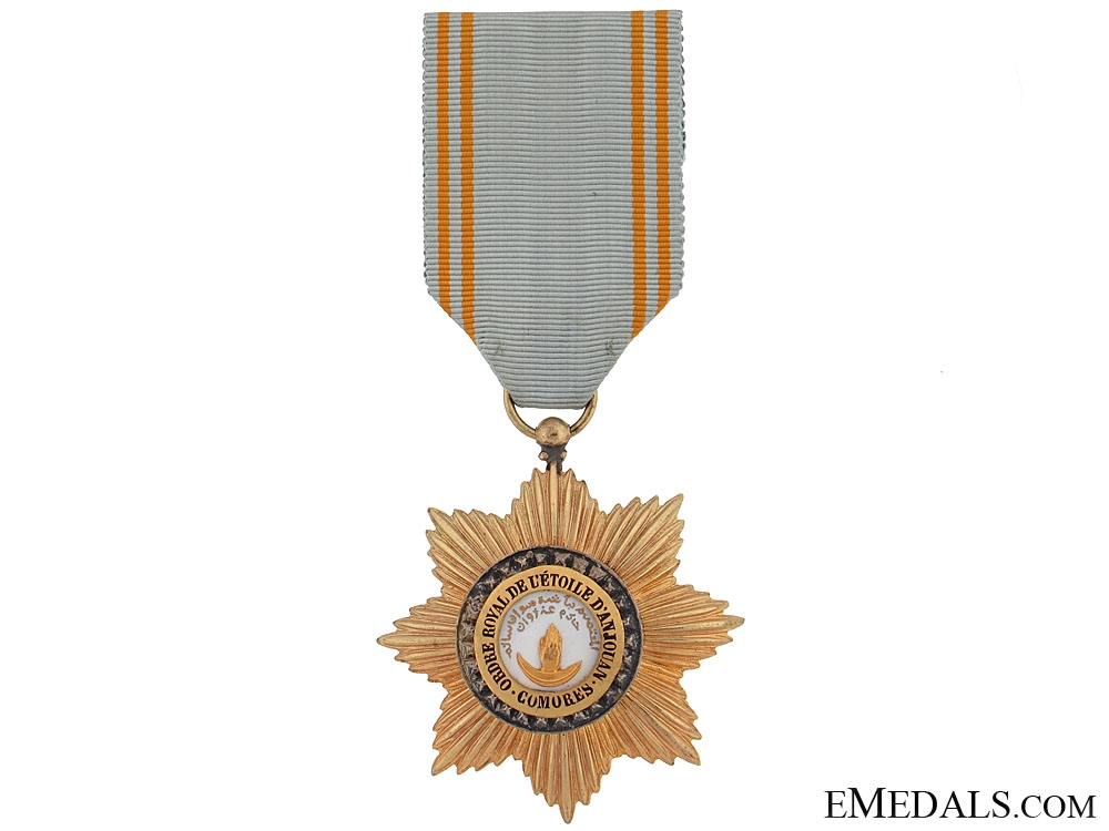 eMedals-French Colonial - Order of Star of Anjouan-Comoro Islands,