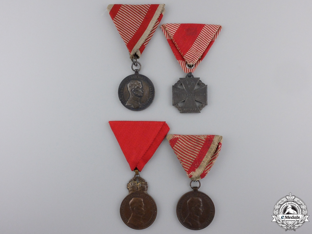 eMedals-Four Austrian First War Medals and Awards