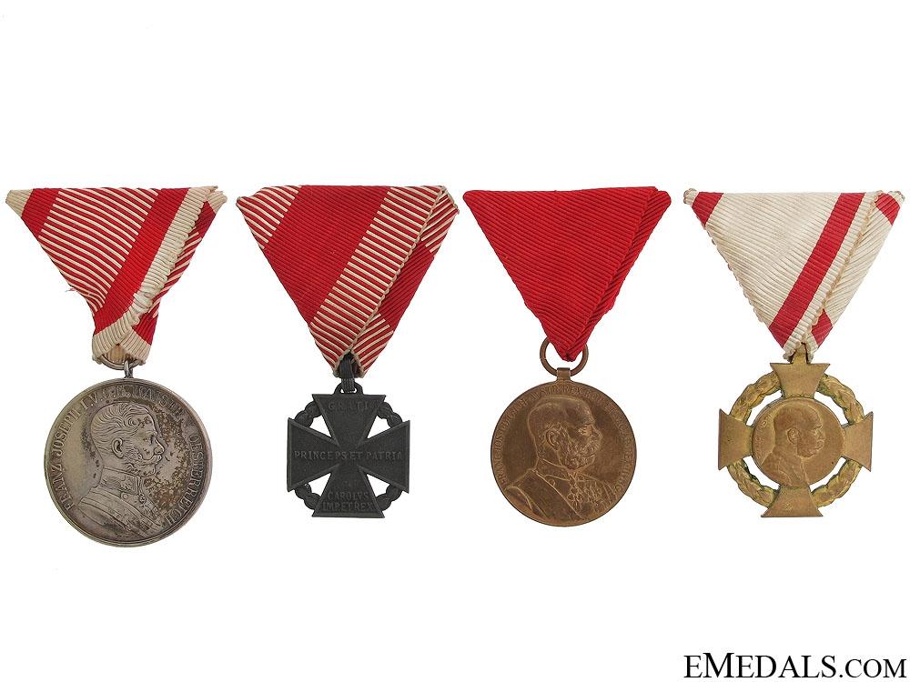 eMedals-Four Austrian Imperial Awards
