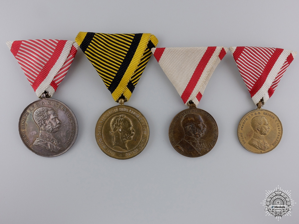 eMedals-Four Austrian Medals and Awards