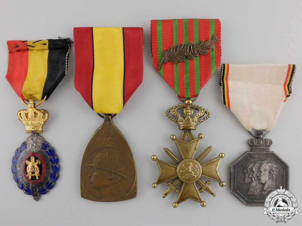 eMedals-Four Belgian Orders and Medals