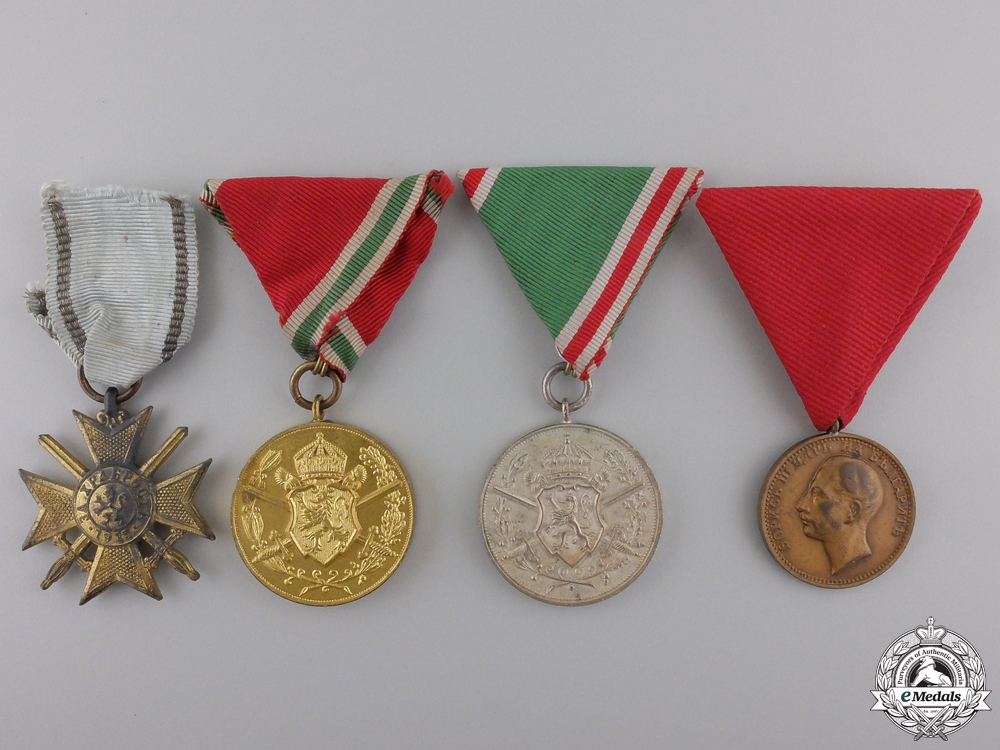 eMedals-Four Bulgarian Military Medals & Awards