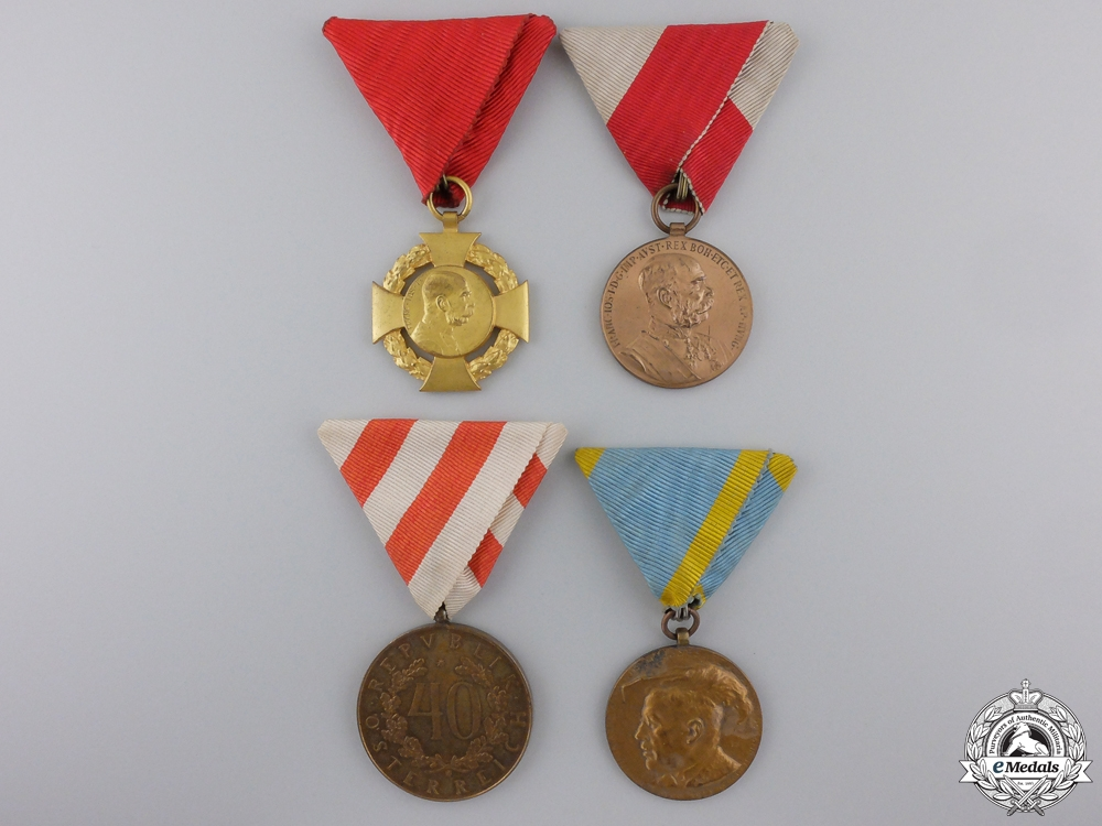 eMedals-Four Civil Austrian Medals