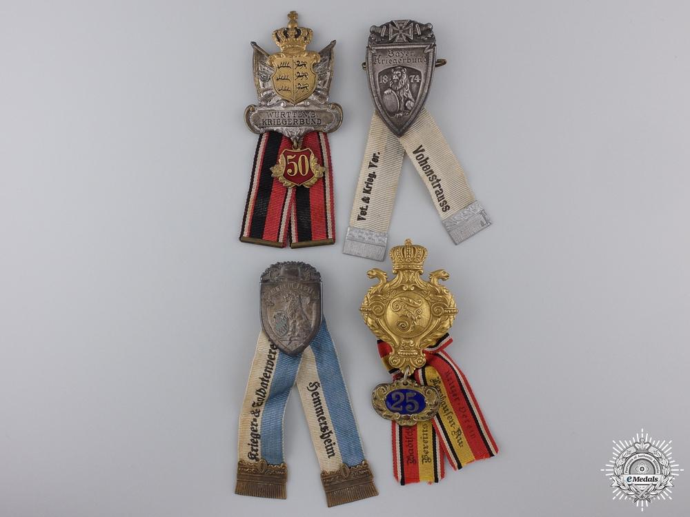 eMedals-Four First War German State Veteran's Badges
