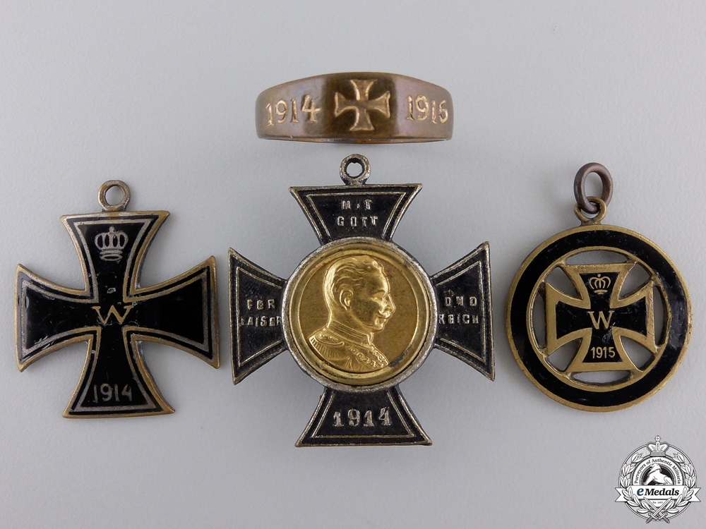 eMedals-Four First War German Imperial Badges with Ring