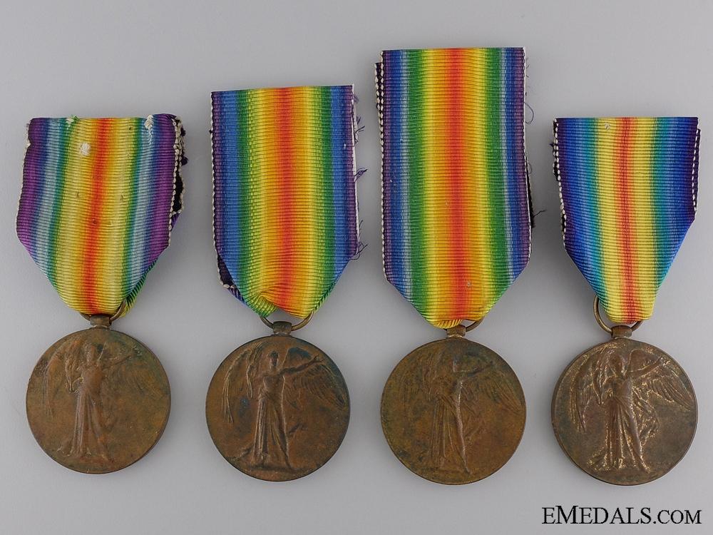 eMedals-Four First War Regimental Victory Medals