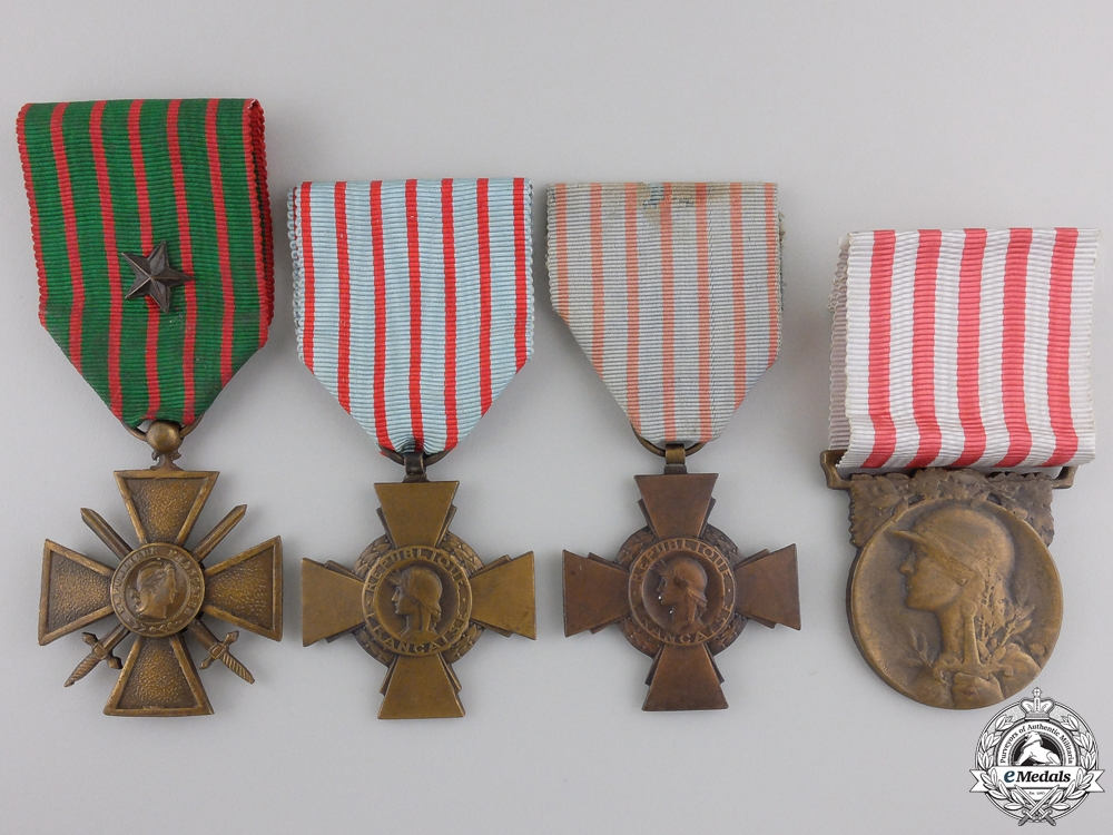 eMedals-Four French First & Second War Medals and Awards
