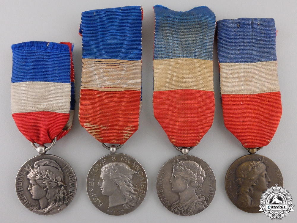 eMedals-Four French General Honour Medals and Awards