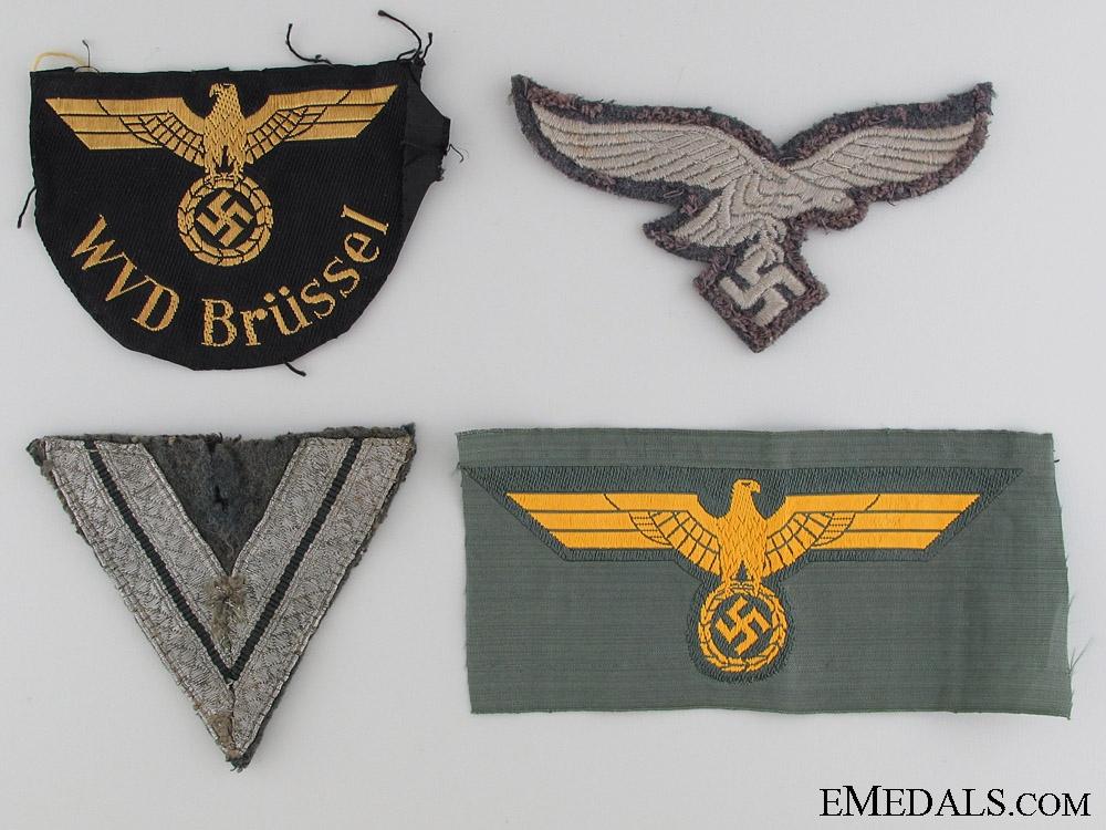 eMedals-Four German Cloth Items