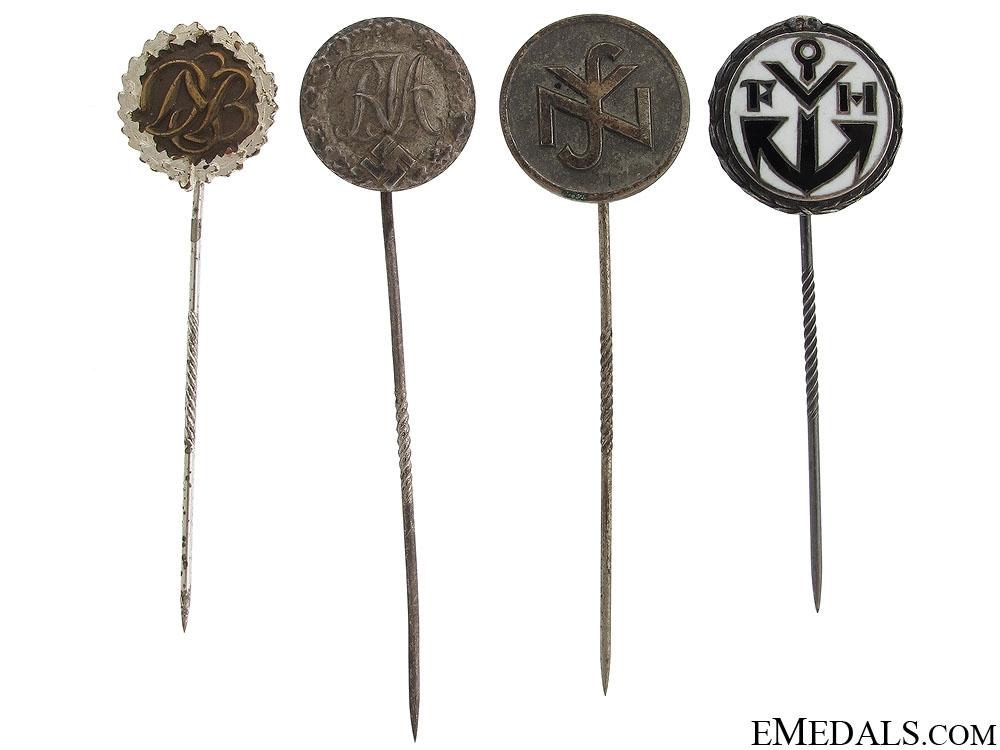 eMedals-Four German Stick Pins