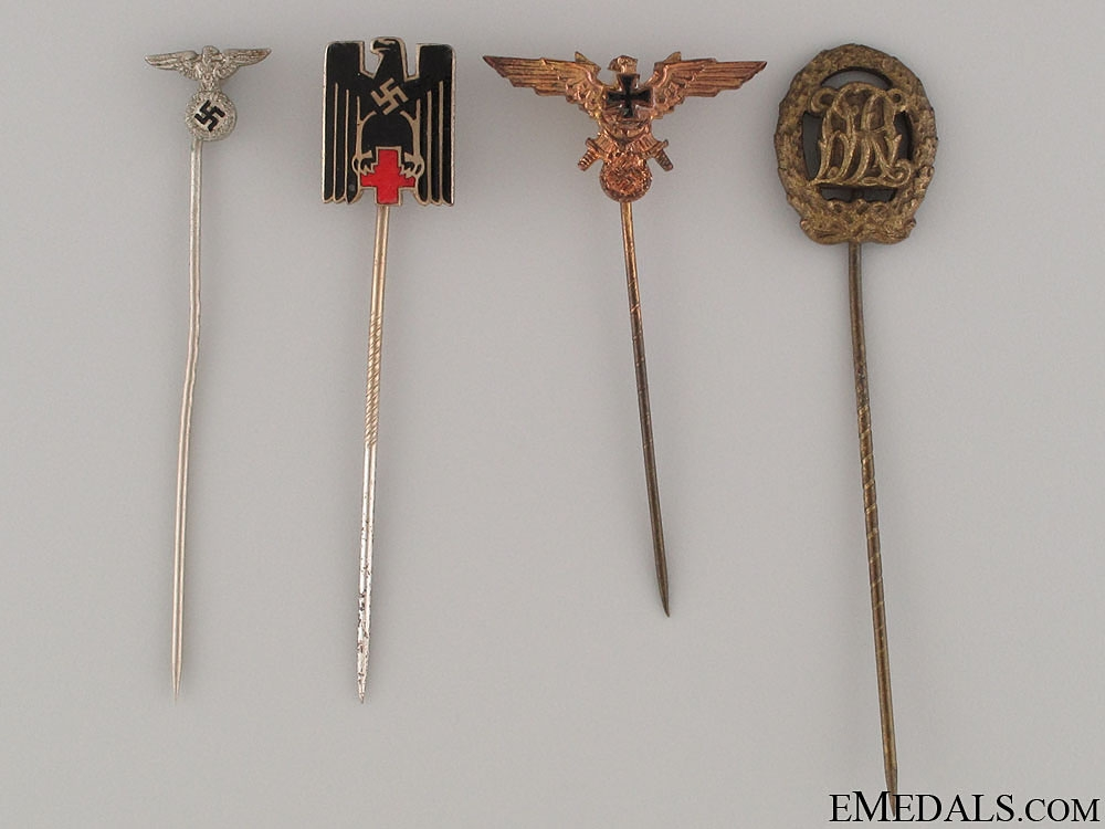 eMedals-Four German Stickpins