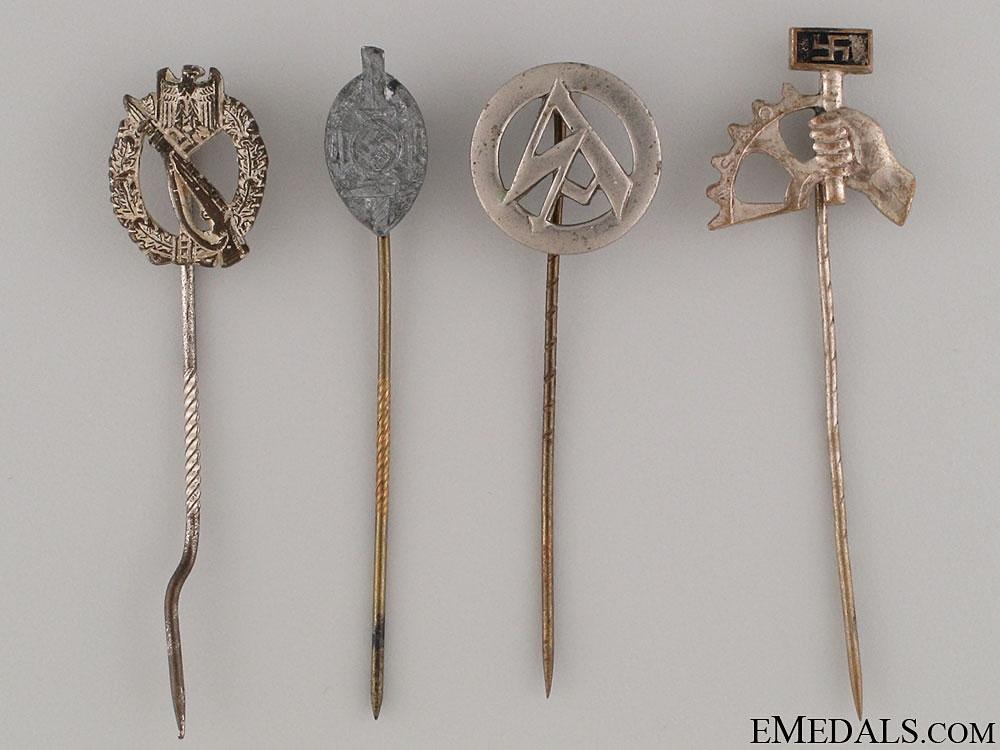 eMedals-Four German Stickpins