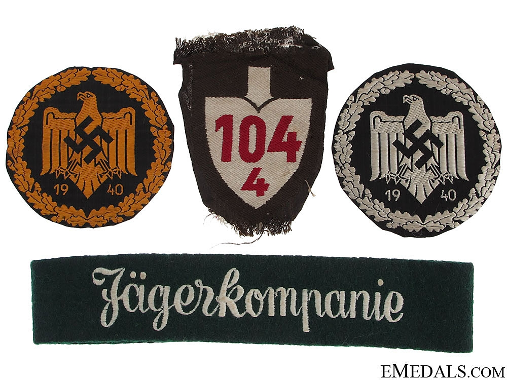 eMedals-Four German WWII Cloth Items