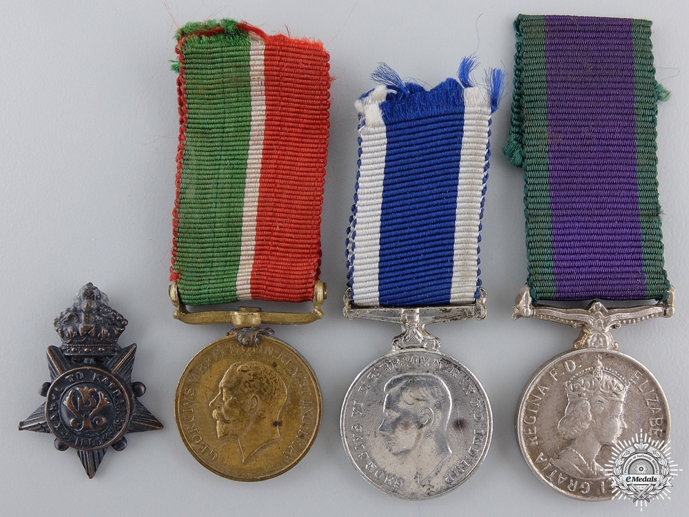 eMedals-Four Miniature British Campaign & Service Medals