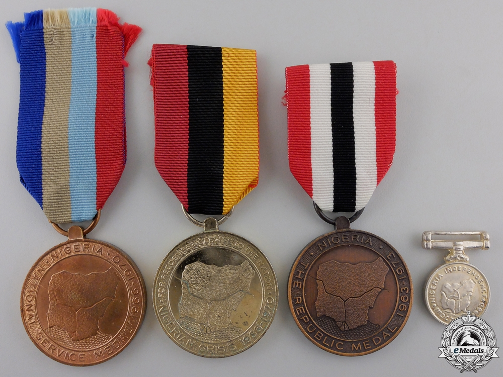 eMedals-Four Nigerian Medals and Awards