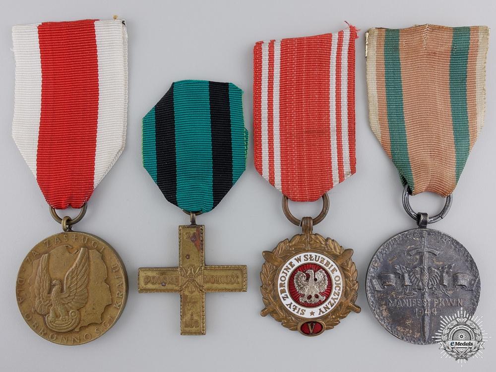 eMedals-Four Polish Medals & Awards