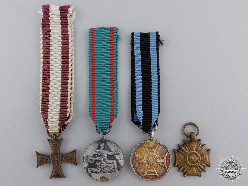 eMedals-Four Polish Miniature Medals
