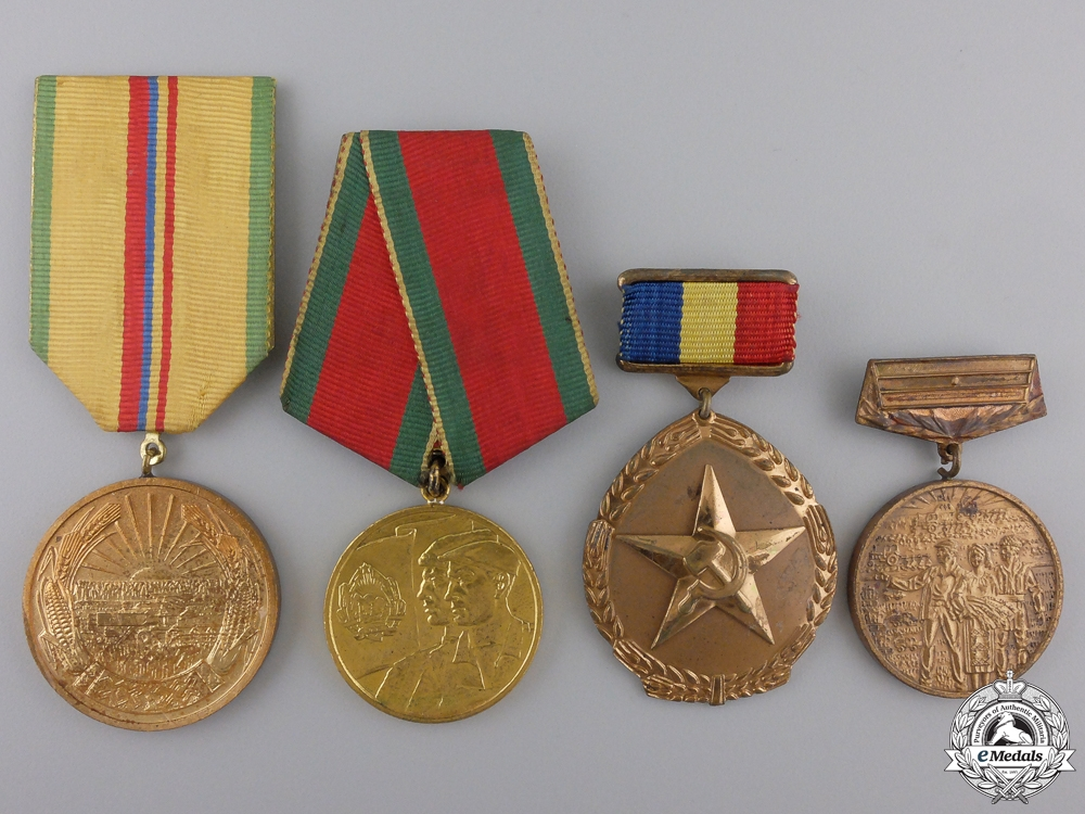 eMedals-Four Romanian Agricultural Medals and Awards
