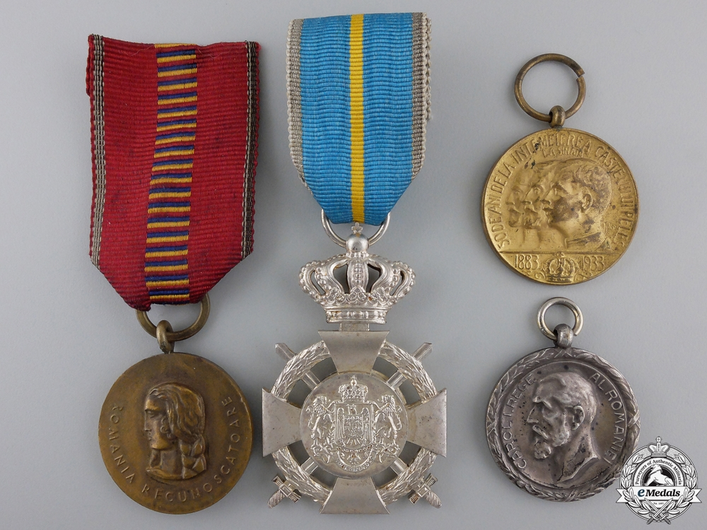 eMedals-Four Romanian Medals and Awards