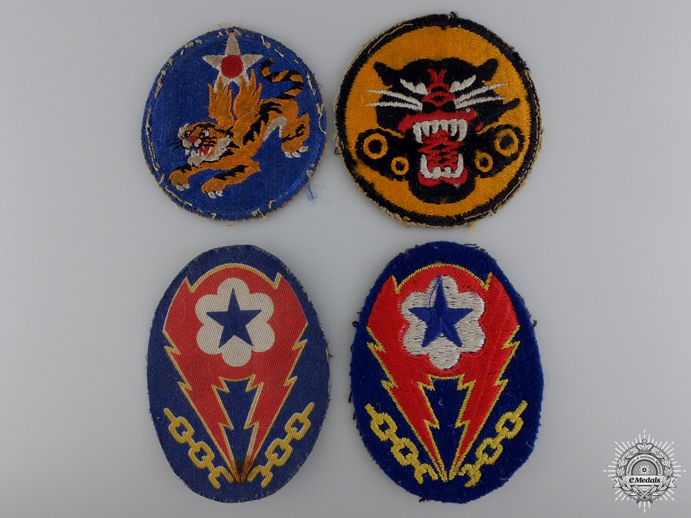 eMedals-Four Second War American Division Patches