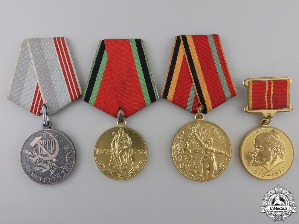 eMedals-Four Soviet Russian Medals and Awards