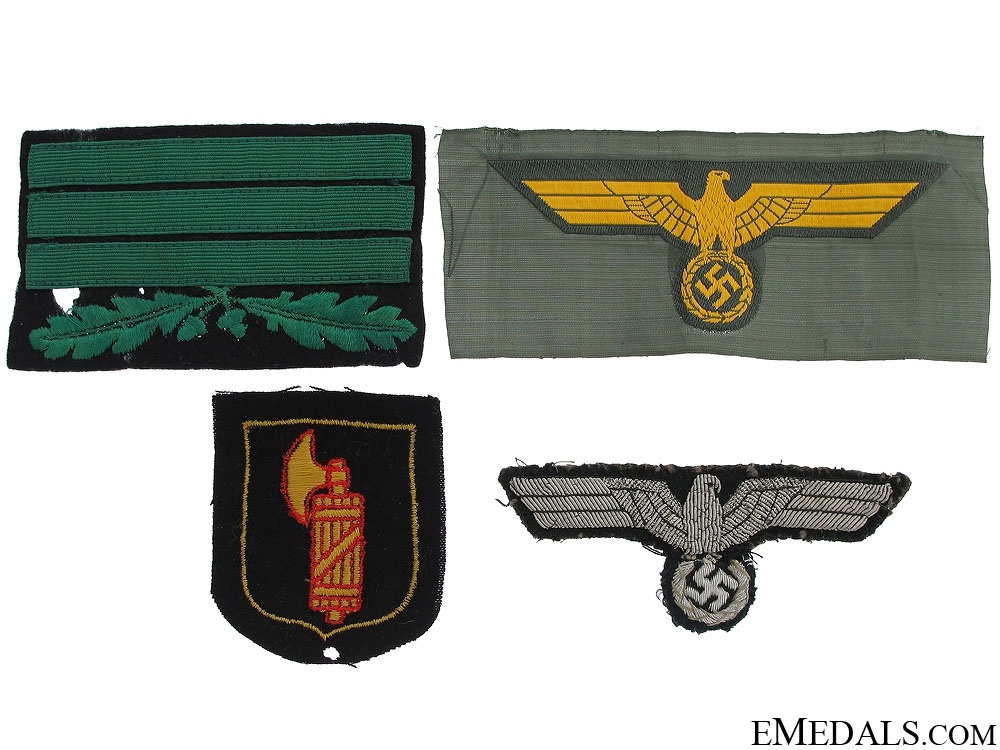 eMedals-Four Third Reich Cloth Items