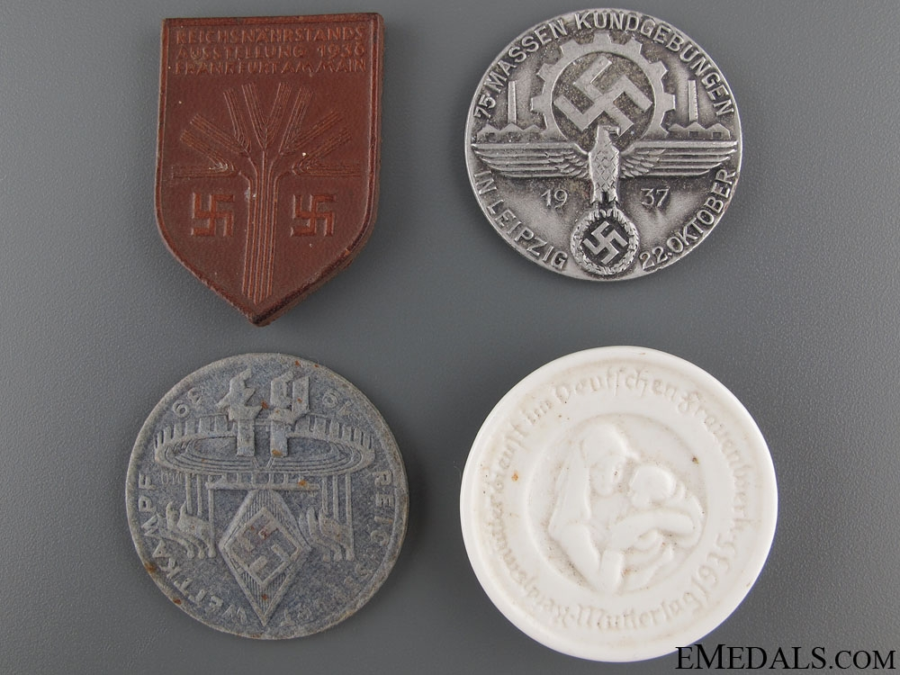 eMedals-Four Third Reich Period Tinnies