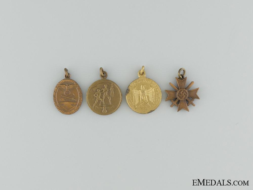 eMedals-Four Third Reich Miniature Medals