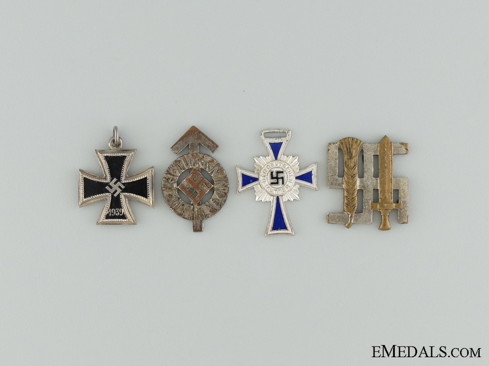 eMedals-Four Third Reich Miniature Awards