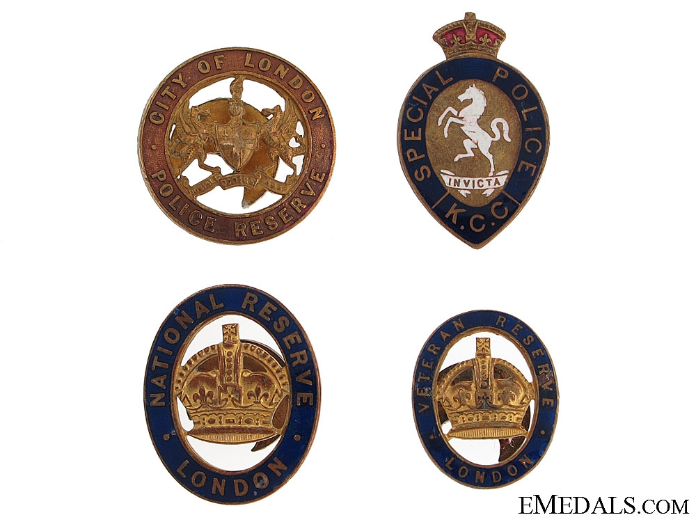 eMedals-Four WWI National Reserve Badges
