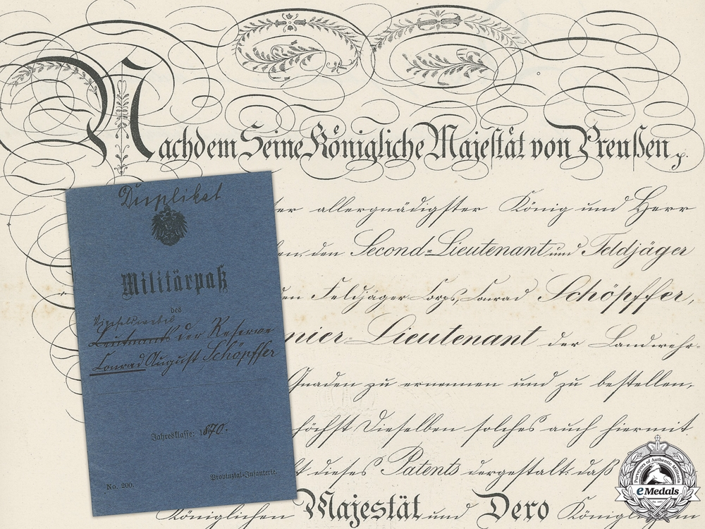 eMedals-Franco Prussian War Documents & Militarpss