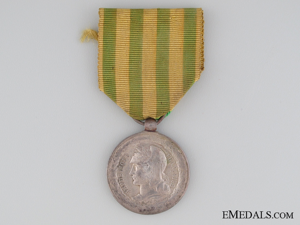 eMedals-French Tonkin Medal 1883-1885, Marine Units Version