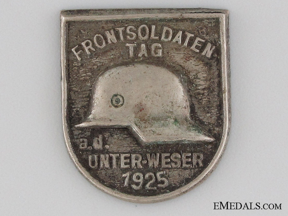 eMedals-Front Soldier's Day, Lower Weser Tinnie, 1925